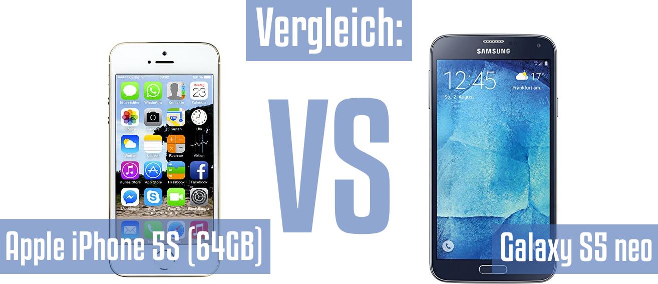 Vergleich Apple Apple Iphone 5s 64gb Und Samsung Galaxy S5 Neo